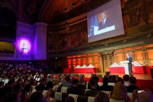 Participation du ministre Jean-Michel BLANQUER, à la proclamation des résultats du concours de Poésie en Liberté, en Sorbonne - Paris, le mardi 4 juillet 2017 - © Philippe DEVERNAY